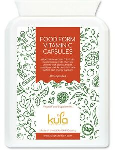 Acerola Cherry Natural Vitamin C Tablets – 250mg per Serving - 60 Vegan Capsules