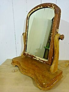 Small Victorian Pine Dressing Table Mirror