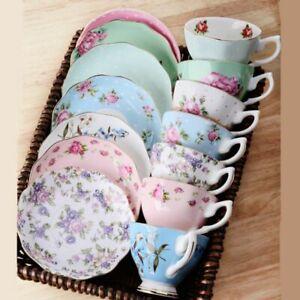 2/3 Pcs/Sets Coffee Cups+Spoon+Saucer 170 ML Porcelain Floral Tea Mugs Drinkware