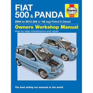 Fiat 500 Panda Haynes Manual 2004-12 1.1 1.2 Petrol 1.3 Diesel Workshop manual