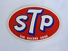 """Vintage NOS Oval STP Racing Oil 3 1/4"""" x 5"""" Sticker/Decal"""