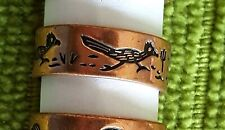 Hand Crafted Copper Ring~Native American RoadRunner Symbol~Healing Effect Copper