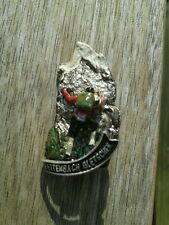 Vintage Oktoberfest Hiking German Bavarian Hat Pin RETTENBACH GLETSCHER signed
