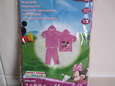 "BNIP - ""Disney Mickey Casa Clubhouse"" Minnie Mouse 2 Piezas Impermeable - 7/9 años"