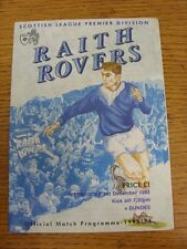 01/12/1993 Raith Rovers v Dundee  (No Major Faults Noted)