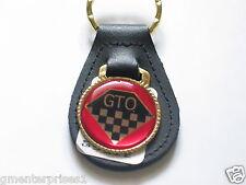Pontiac GTO Keychain Leather Key Chain (Red) (#748)