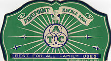"1962 Fine Point Needle Book ""Best For All Family Uses"""