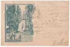 Vorläufer Ak Amselgrund Sächsische Schweiz Amselfall 1893 Stempel ! (A1635