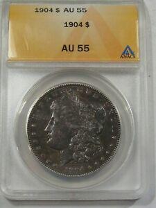 Choice AU 1904 Morgan Dollar ANACS AU55.  #27
