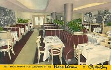 JERSEY CITY NEW JERSEY - ROSE ROOM OYSTER BAY INTERIOR RESTAURANT POSTCARD VIEW