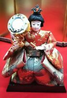 Vintage Japanese Samurai Warrior doll boy sward Plush Figure Emperor doll B