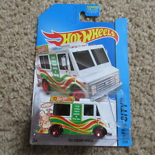 Ice Cream Truck #9 Hot Wheels Die Cast Car Pizza Red 5 Spoke Tires