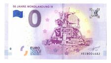0 Euro Schein 50 Jahre Mondlandung III XECB 2018-3 Souvenirschein Souvenir Null