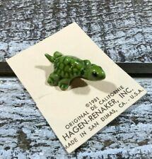 Turtle Ceramic Hagen Renaker 1981 California Usa Miniature