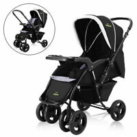 Two Way Foldable Baby Kids Travel Stroller Newborn Infant Pushchair Buggy Black