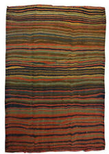 5x7 Vintage Striped Handmade Wool Traditional Tribal Kilim Area Rug