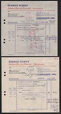 SCHMALKALDEN, 2x Rechnung 1960/61, Silberherd Poliermittel-Fabrik Herbert Schley