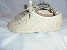 CAMPER WOMEN OFF WHITE LEATHER LACE UP TRAINERS SIZE UK 4 EU 37 VGC