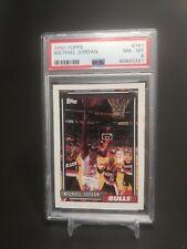 Michael Jordan 1992 Topps #141 PSA 8 Near Mint - Mint HOF Chicago Bulls 1992-93