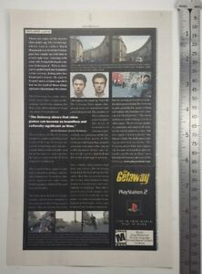 The Getaway Video Game RARE Print Advertisement