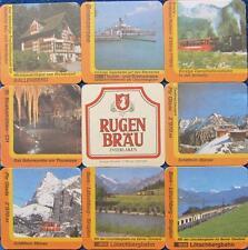 Bierdeckel Serie Sammlung - Schweiz Rugenbräu Interlaken - 8 verschiedene