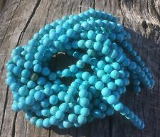 "8mm Natural Howlite Beads Dyed Turquoise Blue Round 15"" Strand Oz Seller"