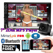 "7"" Double 2 DIN Car Stereo Radio Mp5 Video FM Camera Mirrorlink For GPS Android"