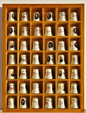 Lot of 42 Thimbles ~ United States Presidents Collection in Custom Display Case