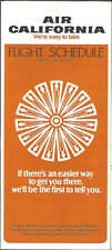 Air California system timetable 7/16/75 [6083] Buy 3+ Save 25%