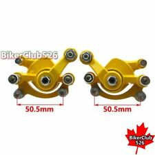 Yellow Front & Rear Disc Brake Caliper For 47cc 49cc Minimoto Goped Scooter