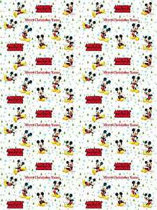 Mickey Mouse Personalised Christmas Gift Wrapping Paper 4 Designs ADD NAME