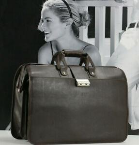 HARTMANN Vintage Leather Excellent Briefcase Professional Doctor Attorney Bag