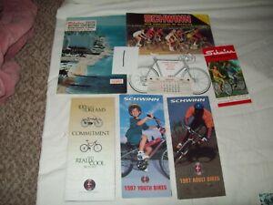 #1- 6 vtg SCHWINN 1962 brochures catalogs + bike calendar MIAMI beach Convention