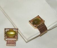 Gorgeous pair of vintage Wrap Green around CUFF LINKS