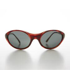 2c4f43243a Brown Bug Eye Goggle Wrap Vintage Sunglass - Skip