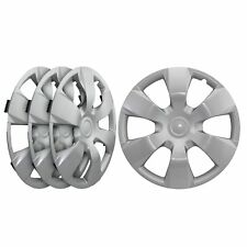 "Universal Fit Silver Replacement Wheel Hubcaps 16"" inch - Set of Four"