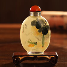 Inner Painting Snuff Bottle Chinese Antique Fanny Scenery in Autumn