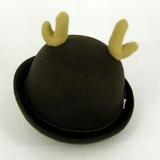 Party Cappello di Natale Antler lana derby BOMBETTA Inverno ROTOLO TESA SACCA