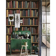 Old Books design library book story bookshelf literature paper Wall Mural