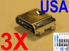 3x Micro USB Charging Port Sync For Samsung Galaxy Tab E SM-T377A SM-T377V USA