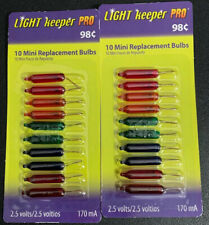 Two Packages Light Keeper Pro 2.5V Mini Replacement Bulbs Color 20 Ct