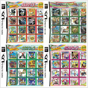 500/208  IN1 cartouche de cartes à jeux multiple pour Nintendo DS 3DS 2DS new2DS