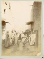 Algérie, Sidi Okba, ruelle typique, vue animée, costumes typiques  Vintage citra
