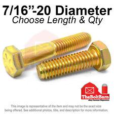 716 20 Grade 8 Hex Cap Screws Fine Thread Sae Hex Bolts Pick Length Amp Qty