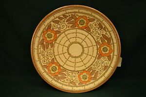 A Charlotte Rhead Charger Plate wall plaque 14.5 inches