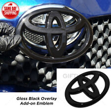 For Toyota 4Runner Camry Prius C Black Front Grille Overlay Add-On Logo Emblem