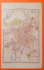 CHEMNITZ Bernsdorf Kappel Borna Gablenz City Map Stadtplan 1892 Kassberg