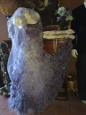 Corpse Bride Wedding Dress set~Gloves~Veil~bouquet~Halloween Costume Emily~sz~8