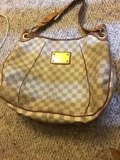 Authentic Louis Vuitton Galliera PM Damier Azur Canvas Shoulder Bag