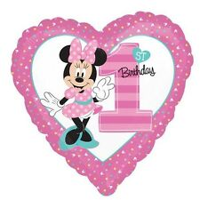 Party Supplies 1st Birthday Girls Minnie Mouse Fun To Be One 45cm Foil Balloon